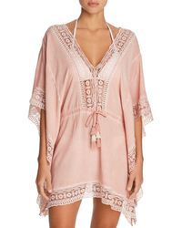 Surf Gypsy - Embroidered - Trim Tunic Swim Cover - Up - Lyst