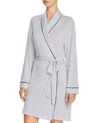 Eberjey - Nordic Stripes Tuxedo Robe - Lyst