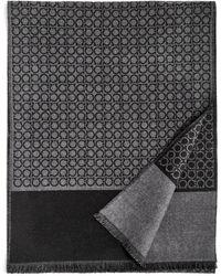 Ferragamo - Small Gancini Print Reversible Scarf - Lyst