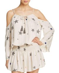 Surf Gypsy - Star Print Cold - Shoulder Tunic Swim Cover - Up - Lyst