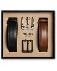 Shinola - Men's Guardian Leather Belt Set - Lyst