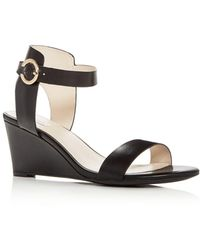 Cole Haan - Women's Rosalind Leather Wedge Sandals - Lyst