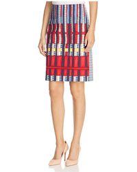 NIC+ZOE - Nic+zoe Santiago Hills Block-print Pencil Skirt - Lyst