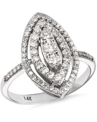 Bloomingdale's - Diamond Tiered Statement Ring In 14k White Gold - Lyst