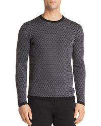 Emporio Armani - Triangle Pattern Pullover - Lyst