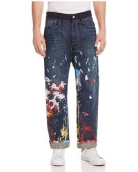 Junya Watanabe - X Levi's Painted Straight Fit Jeans In Indigo - Lyst
