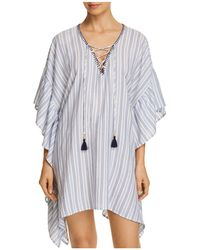Tommy Bahama - Ticking Stripe Tunic Swim Cover-up - Lyst