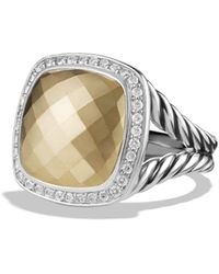 David Yurman - Albion Ring With 18k Gold Dome And Diamonds - Lyst