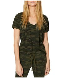 Sanctuary - Camo V-neck Tee - Lyst