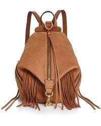 Rebecca Minkoff - Julian Fringe Medium Nubuck Leather Backpack - Lyst