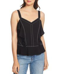 1.STATE - Contrast-stitched Ruffle Camisole - Lyst
