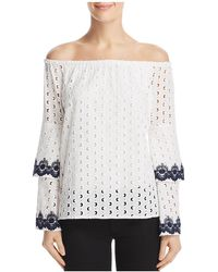 Bailey 44 - Phlox Eyelet Off-the-shoulder Top - Lyst