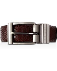 Ted Baker - Tatti Textured & Reversible Leather Belt - Lyst