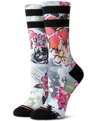 Stance - Soul Flower Womens Crew Socks - Lyst