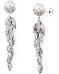 Nadri - Willow Leaves Drop Earrings - Lyst