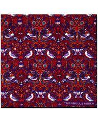 Turnbull & Asser - Floral Birds Pocket Square - Lyst