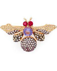 Nadri - Purple Bee Pin - Lyst