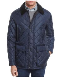 Cole Haan - Quilted Elbow-patch Jacket - Lyst