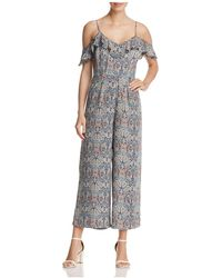 91bc8f414e5a Cupcakes And Cashmere - Jazlynn Printed Cold-shoulder Jumpsuit - Lyst