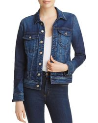 7 For All Mankind - Classic Denim Jacket In Eden Port - Lyst