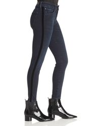 Mavi - Tess Side-stripe Skinny Jeans In Midnight Stripe - Lyst
