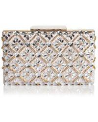 Sondra Roberts - Jeweled Satin Box Clutch - Lyst