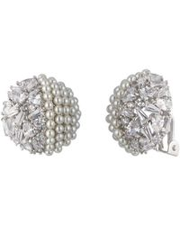 Carolee - Pavé Clip-on Earrings - Lyst