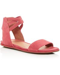 Gentle Souls - Women's Lark-may Perforated Suede Ankle Strap Demi Wedge Sandals - Lyst