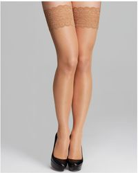 Wolford - Satin Touch Stay Ups Tights - Lyst