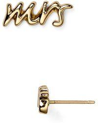 Kate Spade - Say Yes Mrs. Stud Earrings - Lyst
