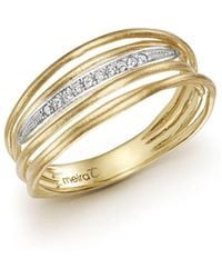 Meira T - 14k Yellow Gold Ring With Diamonds - Lyst