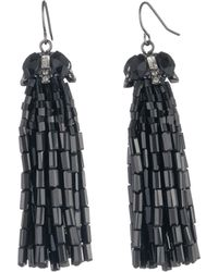 Carolee - Tassel Cap Earrings - Lyst