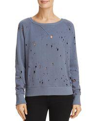 LNA - Distressed Sweatshirt - Lyst
