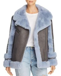 Heurueh - Bad To The Bone Faux-shearling Moto Jacket - Lyst