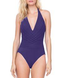 Gottex - Divine Halter One Piece Swimsuit - Lyst