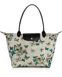 Longchamp - Le Pliage Papillon Large Shoulder Bag - Lyst