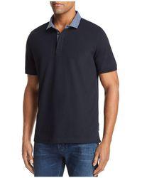Emporio Armani - Striped Collar Regular Fit Polo - Lyst