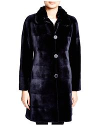 Maximilian - Maximilian Sheared Mink Reversible Coat With Chinchilla Collar - Lyst