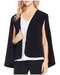 Vince Camuto - Milano Twill Open Front Cape Jacket - Lyst
