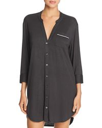 bf4e82353e Lyst - UGG Vivian Stripe Knit Sleepshirt in Black
