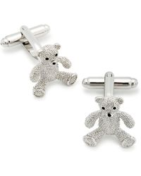 Link Up - Teddy Bear Cufflinks - Lyst