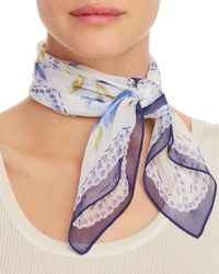 Echo - Floral - Print Silk Scarf - Lyst