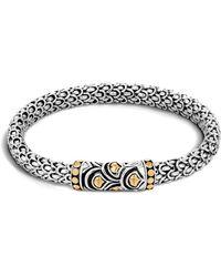 John Hardy - Sterling Silver & 18k Bonded Gold Naga Chain Bracelet - Lyst