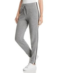 C By Bloomingdale's - Varsity Striped Cashmere Jogger Pants - Lyst