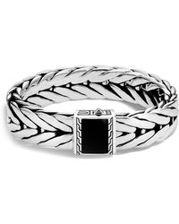 John Hardy Modern Chain Large Sterling Silver Rectangle Bracelet AiknW