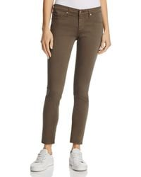AG Jeans - Sateen Legging Ankle Jeans In Army Green - Lyst