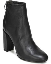Via Spiga - Women's Nadia Leather High Block Heel Booties - Lyst