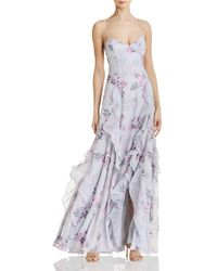 Fame & Partners - Nav Floral Gown - Lyst