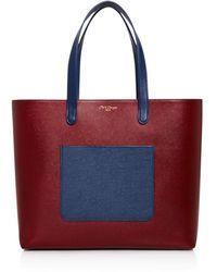 Olivia Clergue - Marceline Color Block Pocket Leather Tote - Lyst