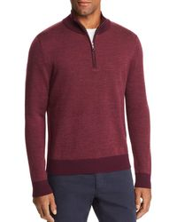 Brooks Brothers - Birdseye Half Zip Sweater - Lyst